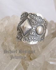 Vince Platero Sterling Silver Stamped Repousse Cigar Band Ring Ring | Schaef Designs | New Mexico