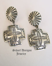 Vincent Platero, Navajo, artist signed, sterling silver hand stamped concho belt | Schaef Designs | New Mexico