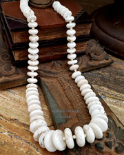 Schaef Designs white buffalo turquoise & Sterling Silver Necklace | New Mexico