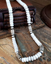 Schaef Designs White Howlite Tube Bead Necklaces | New Mexico