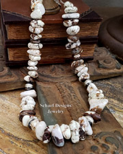 Schaef Designs Wildhorse Nugget & Sterling Silver Bench Bead Necklace | New Mexico