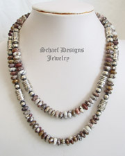 Schaef Designs Arizona Wildhorse Magnesite & Sterling Silver Tube Bead Necklace set | Tommy Singer inspired | online upscale native american & southwestern jewelry boutique gallery| Schaef Designs Southwestern turquoise Jewelry | New Mexico