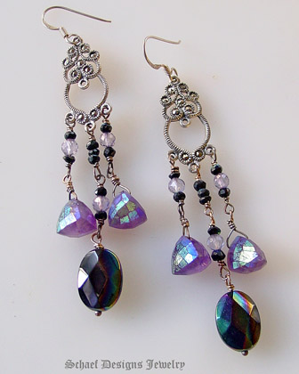 Mystic Amethysts Black Onyx Amp Spinel Paired With Marcasite