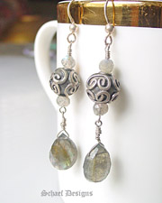 Schaef Designs Labradorite & Sterling Silver Dangle Earrings | New Mexico