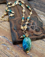 Schaef Designs AAA Peruvian Opal & 22kt gold vermeil necklace | New Mexico