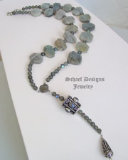 Schaef Designs Blue Flash Labradorite & Sterling Silver Necklace | New Mexico