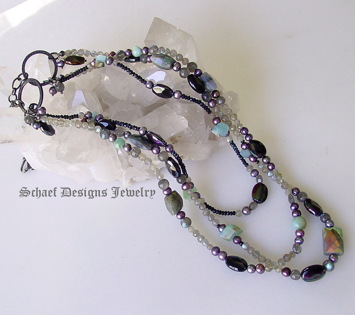 gemstone necklace schaef designs gemstone jewelry new mexico