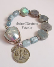 Schaef Designs Kyanite, Labradorite, & Sterling Silver Gemstone Bracelet | New Mexico