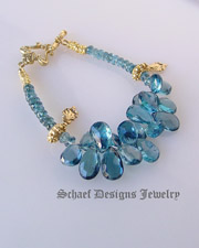 Schaef Designs London Blue Topaz & 24kt gold vermeil gemstone bracelet | New Mexico