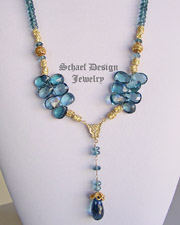 Schaef Designs London Blue Topaz & 24kt gold vermeil gemstone necklace | New Mexico