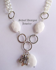 Schaef Designs White opal quartz & Sterling Silver gemstone necklace | New Mexico