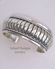 Thomas Charley Sterling Silver Cuff Bracelet UNISEX | Schaef Designs Men's Unisex Jewelry | New Mexico