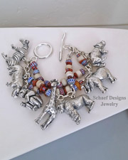 Susan Cummings Vintage sterling silver endangered species charm bracelet | Schaef Designs | New Mexico