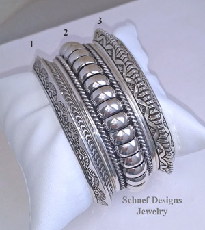 Sterling Silver Native American Unisex Stacking Bracelets | New Mexico