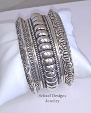 Sterling Silver Native American Stacking Bracelets | Schaef Designs | Arizona