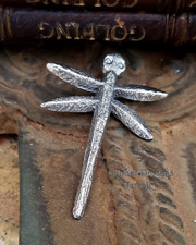 Gary Custer Sterling Silver Tufa Cast Dragonfly Pendant | New Mexico