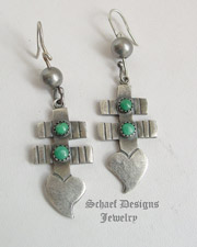 Dragonfly Turquoise & Sterling Silver Earrings | Schaef Designs Native American turquoise jewelry | New Mexico