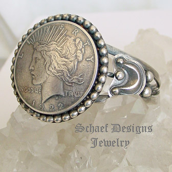 Liberty Dollar Amp Sterling Silver Cuff Bracelet Old Coin