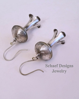 Mercury Dime Squash Blossom wire Earrings | Schaef Designs | Arizona