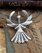 Gary Custer Tufa Cast Sterling Silver Thunderbird Pendant | New Mexico
