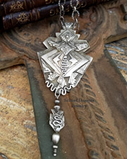 Teresa Archibeque Sterling Silver Horned Toad Necklace | New Mexico