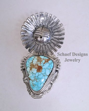 Bennie Ration #8 turquoise & sterling silver Kachina Pendant | New Mexico