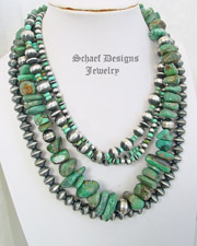 Turquoise nugget and Navajo Pearl layering necklace pairing | New Mexico