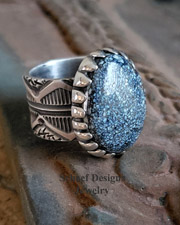 Native American Variscite & Sterling Silver Men's Unisex Ring | New Mexico