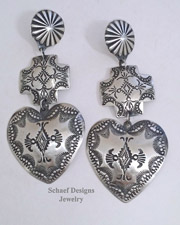 Schaef Designs Turquoise & Sterling Silver Cross CLIP Earrings | Schaef Designs | New Mexico