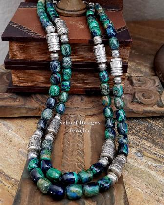 Azurite Bead Necklace