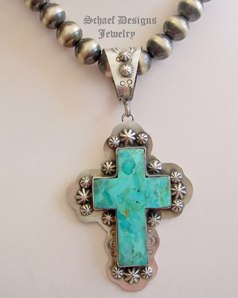 Schaef designs southwestern turquoise sterling silver cross schaef designs southwestern turquoise sterling silver cross pendant new mexico aloadofball Images