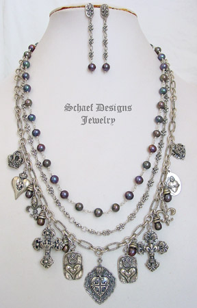 Schaef Designs upscale artisan handcrafted Pearl gemstone Jewelry
